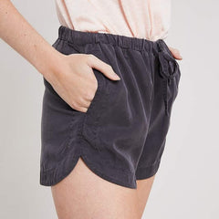 Tencel Drawstring Jogger Short