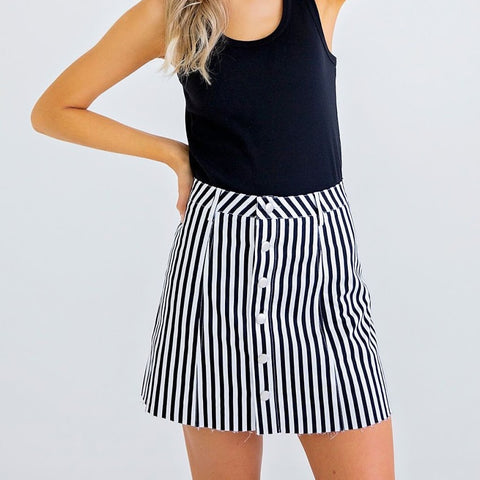 Lydia Stripe Skirt