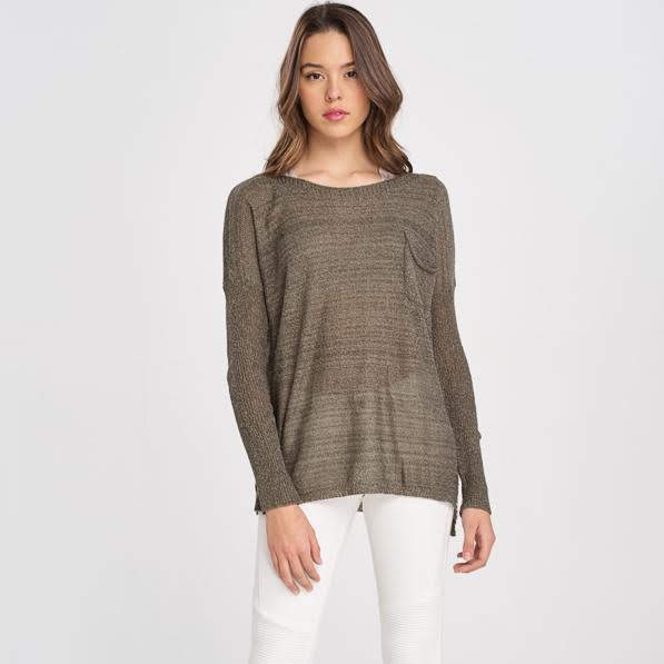 Olive Pocket Sweater