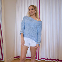 Light Blue Crop Sweater