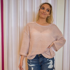 Blush Knit Top