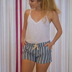 Cotton & A Rope Stripe Short