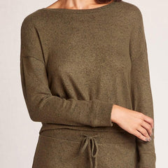 Ruched Boy Olive Sweater
