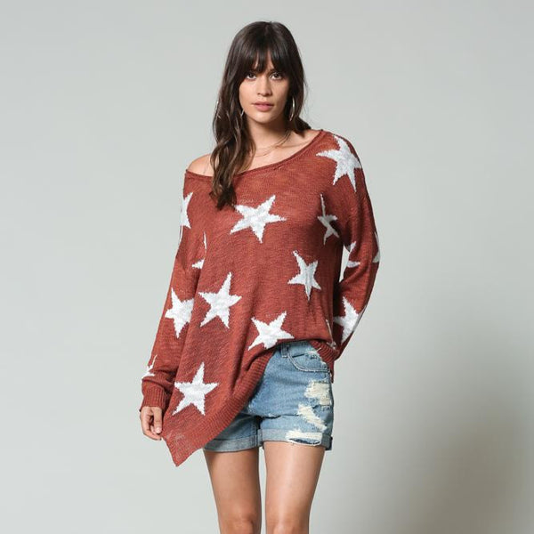 Just a Star Sweater from By Together at Charm Boutique in Gulf Shores, Alabama