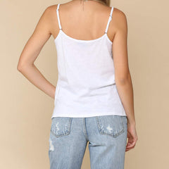 Adjustable Cotton Cami Tank