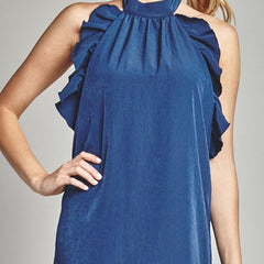 Night Moves Ruffle Dress