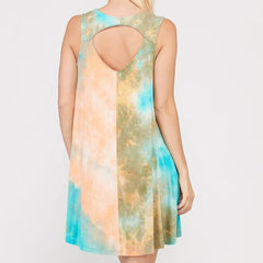 Tie Dye Swing Dress by Wishlist at Charm Boutique in Gulf Shores