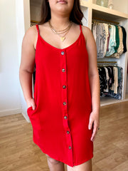 Red Button Down Dress