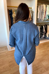 Riley Denim Button-down Top