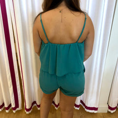 Summer Sadness Teal Romper