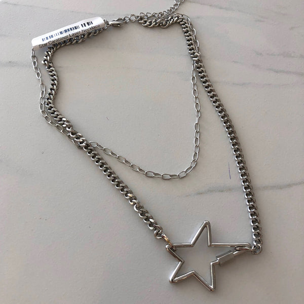 Star Carabiner Layer Necklace