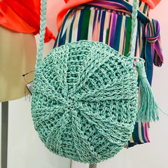 Mint Straw Crossbody