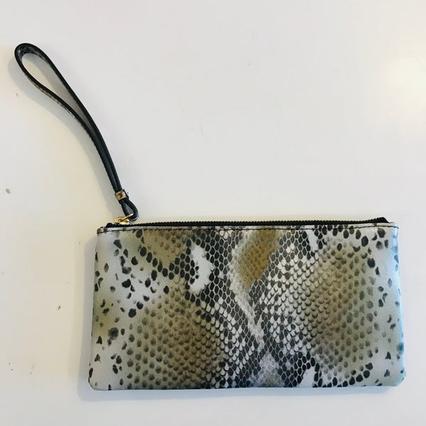 Snake Print Pouch Wallet