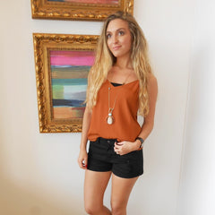 Rust Adjustable Cami by By Together at Charm Boutique in Gulf Shores, Alabama