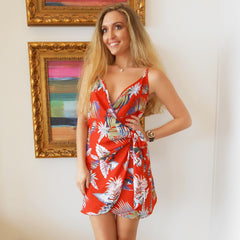 Summer Friends Wrap Dress by Sage the Label at Charm Boutique in Gulf Shores