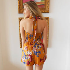 Gold Garden Romper by Angie at Charm Boutique in Gulf Shores