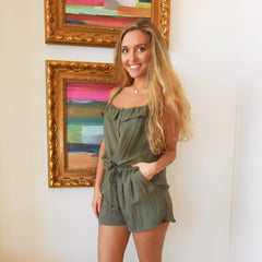 Olive 2 Piece Short Set by HYFVE at Charm Boutique in Gulf Shores, Alabama