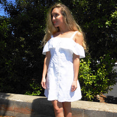 Retro Fantasy White Dress by Velvet Heart at Charm Boutique in Gulf Shores