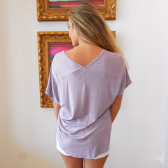 Bamboo Pocket Tee by Caramela at Charm Boutique in Gulf Shores, Alabama