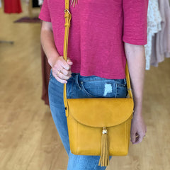 Tassel Cross Body Bag