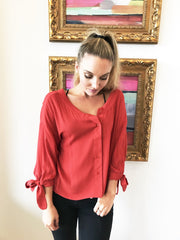 Slouchy but Cute Rust Blouse