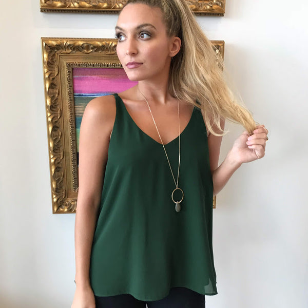 Double Back V-Neck Cami