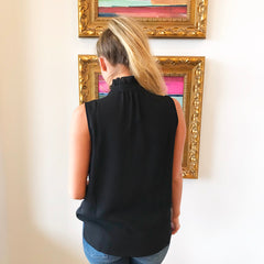 Black Magic Ruffled Choker Tank