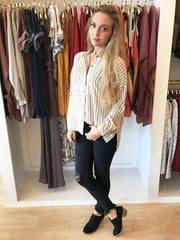 Rumor Has It Stripe Tunic from Sage the Label at Charm Boutique in Gulf Shores