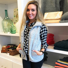 Charleston Heather Grey Vest from Staccato at Charm Boutique in Gulf Shores