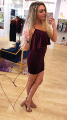 Midnight Special Magenta Velvet Dress from BB Dakota at Charm Boutique in Gulf Shores