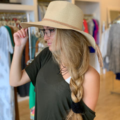 Braided Tassel Band Straw Hat