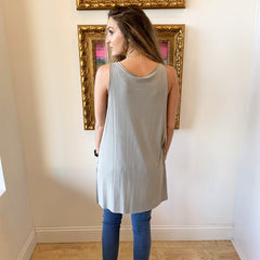 Saturday Slit Tank from Mod Ref at Charm Boutique