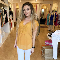 Delicate in Lace Blouse from Wishlist at Charm Boutique in Gulf Shores, Alabama
