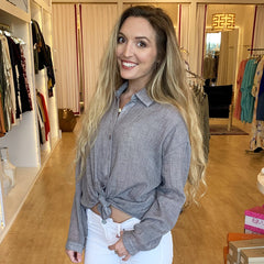 Barely There Button Down from Sadie & Sage at Charm Boutique in Gulf Shores
