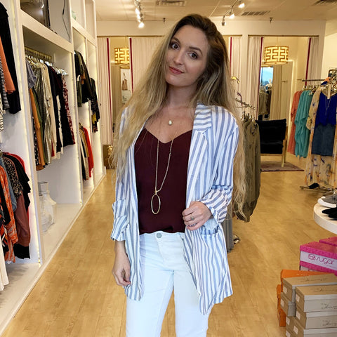 On the Line Stripe Blazer
