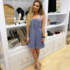 Baby Blue Spotted Dress from Lunik at Charm Boutique in Gulf Shores, AL