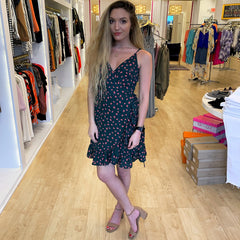 Flowers in Spring Wrap Dress from Wishlist at Charm Boutique in Gulf Shores, Al