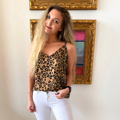 Leopard Cami Tank from By Together at Charm Boutique in Gulf Shores