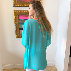 Neon Poncho Kimono by Caramela at Charm Boutique in Gulf Shores, Alabama