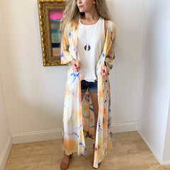 Tie Dye Sunset Kimono from Lunik at Charm Boutique in Gulf Shores, Alabama