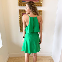 Lucky You Green Dress from Do + Be Collection at Charm Boutique in Gulf Shores