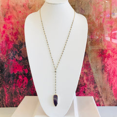 Taylah Stone Y Necklace