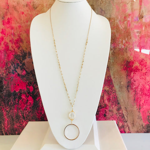 Champagne Toast Circle Necklace