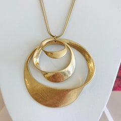 Triple Giant Circle Necklace