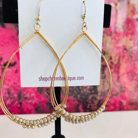 Champagne Wire Earring
