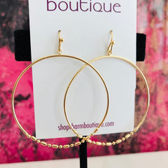 Bottom Bead Hoops