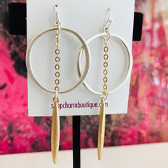 Circle & Bar Earring