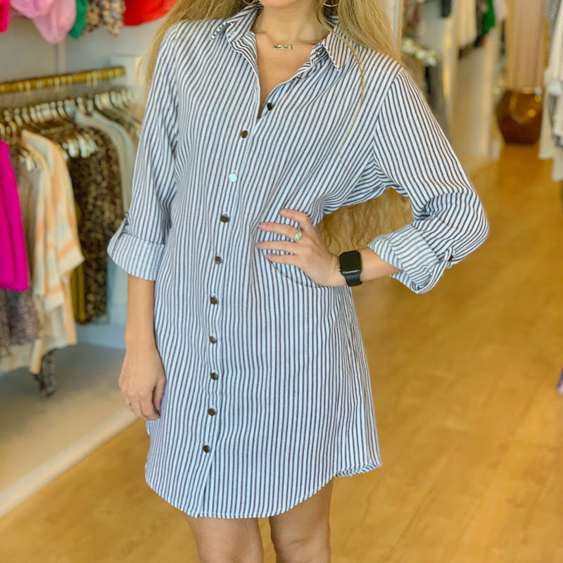 Bama Stripe Button Down Dress