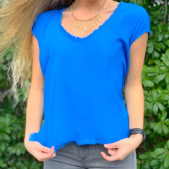 Royal Fringed Scoop Tank