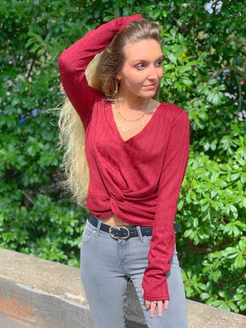 Chiswick Ribbed Knot Top
